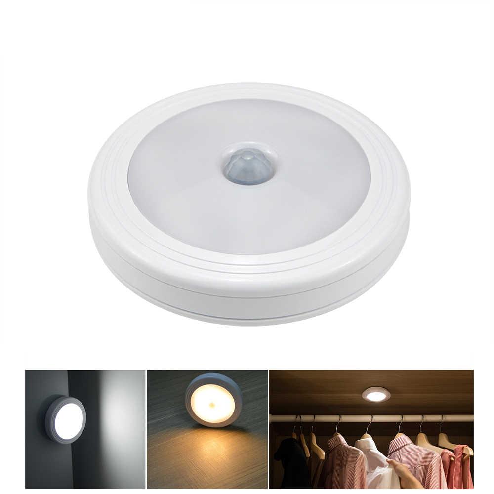 Magnetyczny czujnik ruchu na podczerwień lampy sufitowe LED lampy sufitowe LED pod światła do szafki uniwersalny szafa szafa zawias żarówka Auto On/Off przełącznik