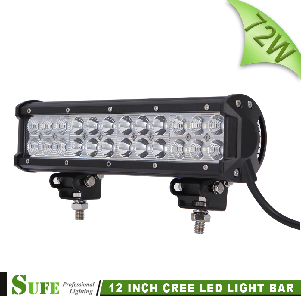 SUFE 12 INCH 72W LED font b LIGHT b font BAR COMBO OFF ROAD FOR TRACTOR