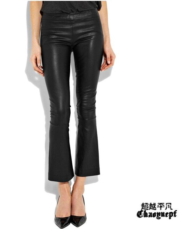 Cuero Puede Imitar Calidad Las Ser Personalizado Pantalones Oveja Slim Alta Mujeres Marca La Envío Piel Corte De Gratis Moda 2019 Primavera 1Ofn6U