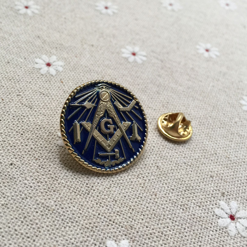 US $22 99 |10pcs wholesale custom make masonic lapel pin badges Working  Tools Freemason metal crafts masonry brooch and pin freemasonry-in Pins &