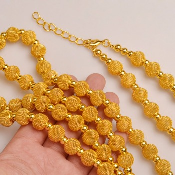 Anniyo 82cm Beads Necklace and 24cm Braceletsl Jewelry Party sets  1