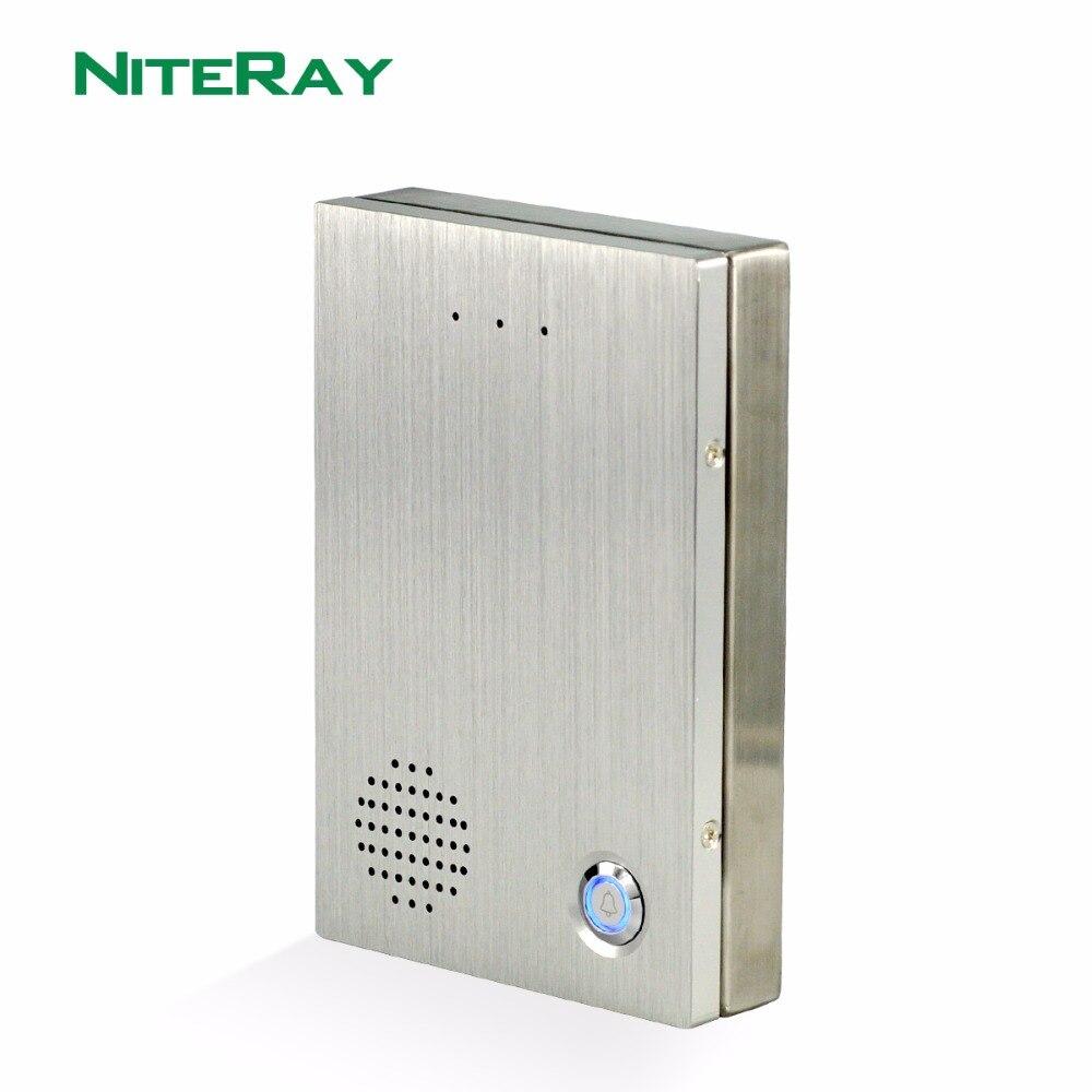 Niteray Q504 электронный домофон SIP аудио-телефон двери для аудио домофон Системы