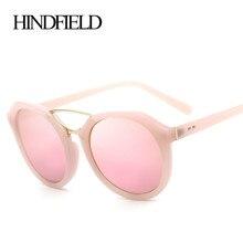 HINDFIELD Mujeres Diseñador de la Marca de Lujo de Gran Tamaño gafas de Sol Redondas Gafas de Sol Femeninas de La Vendimia gafas de sol mujer