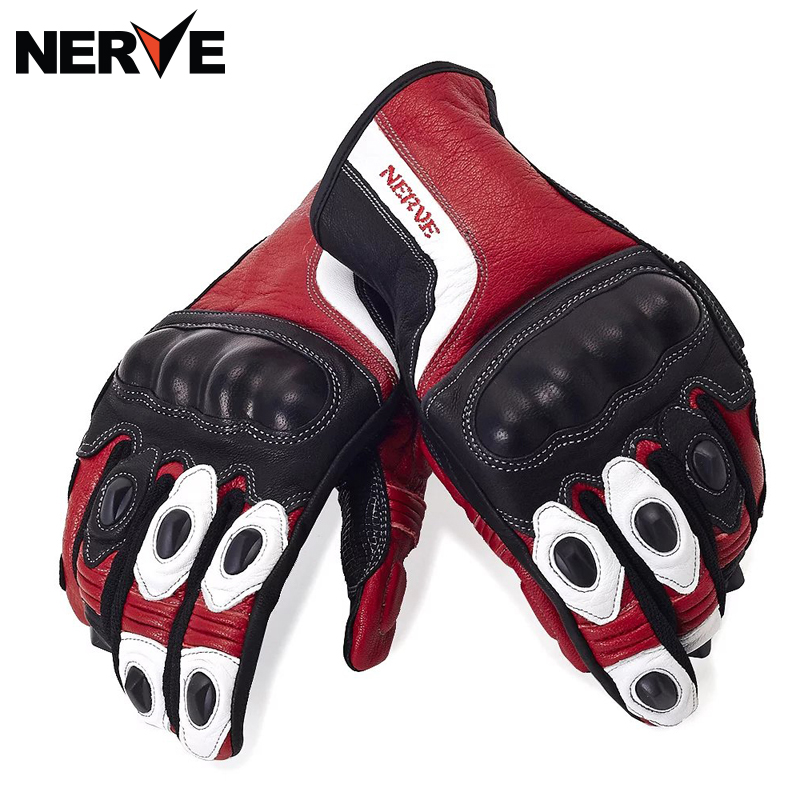 NERVE Motorcycle Gloves spring summer Waterproof Windproof Protective Gloves leather gloves, breathable Non-slip 100% waterproof authentic germany nerve kq 019 leather motorcycle gloves cross country knight glove winter warm breathable