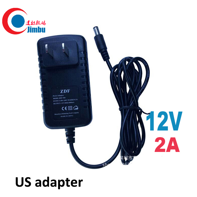 US Type Adapter DC 12V 2A CCTV Security Camera Power Supply US Plug Power Adapter black color cctv system h view 12v 2a power supply for cctv camera system eu uk us au 12v dc adapter for security camera system