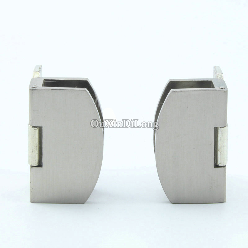 Hot 4PCS Glass Cabinet Door Hinges Display Wine Cabinet Door Hinges Glass Hinges for Cabinet Cupboard Glass Clamps No Drilling 3 inch 90 degree not drilling hole cabinet furniture hinges bridge shaped spring frog hinge full overlay cupboard door hinges