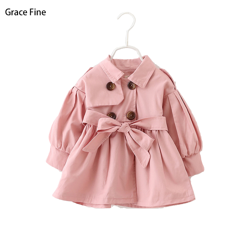 Baby Girl Clothes Warm Outwear Children Winter Trench for Girls Kids Christmas Trench Clothes Korean Style Hot Sell Jacket Coat black trench outwear self tie waistband