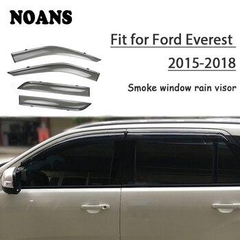 NOANS 4pcs For Ford Everest 2018 2017 2016 2015 Accessories Auto Car Windows Sun Rain Visor Door Shield Trim