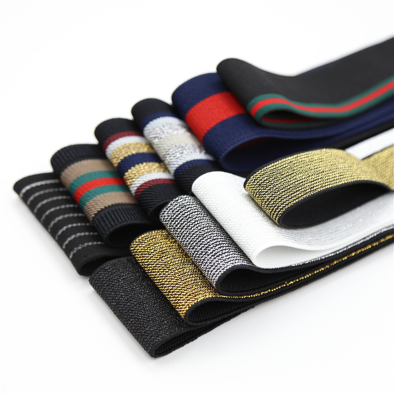 1 M 2-7 Cm Wide Grain Trousers Elastic Ribbon Waistband Thickening Latex Webbing Band Bags' Sewing Cloth