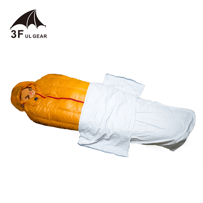 3f Ul Gear Tyvek Sleeping Bag Cover Liner Waterproof Bivy Bag 180*80cm Invigorating Blood Circulation And Stopping Pains Camp Sleeping Gear
