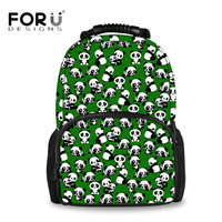 FORUDESIGNS Cartoon Animal Panda Puzzle Printing Backpack for Women Travel Laptop Teens Girls School Bagpacks Big Felt Backpacks