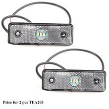 2 pcs AOHEWEI 3LED Rimorchio bianco indicatore laterale posizione ha condotto la Luce 12 V 24 V per la luce del Rimorchio led luce di indicatore luce della coda del camion