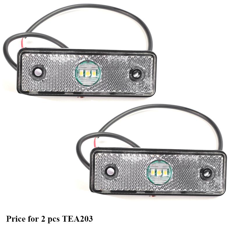 2 pcs  AOHEWEI 3LED Trailer  white side marker position led Light 12 V 24 V for Trailer light led  marker light tail light truck-in Truck Light System from Automobiles & Motorcycles