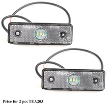 2 piezas AOHEWEI 3 led remolque lado Blanco posición luz led 12 V 24 V para luz led de remolque camión de luz trasera de marcador