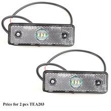 2 sztuk AOHEWEI 3LED przyczepy biały side marker pozycji światło led 12 V 24 V do przyczep światła led marker światło tylne do ciężarówek