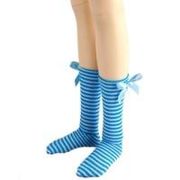[wamami] 11# Dark Blue & White Stripe Socks/Stockings For 1/3 SD DOD BJD Dollfie