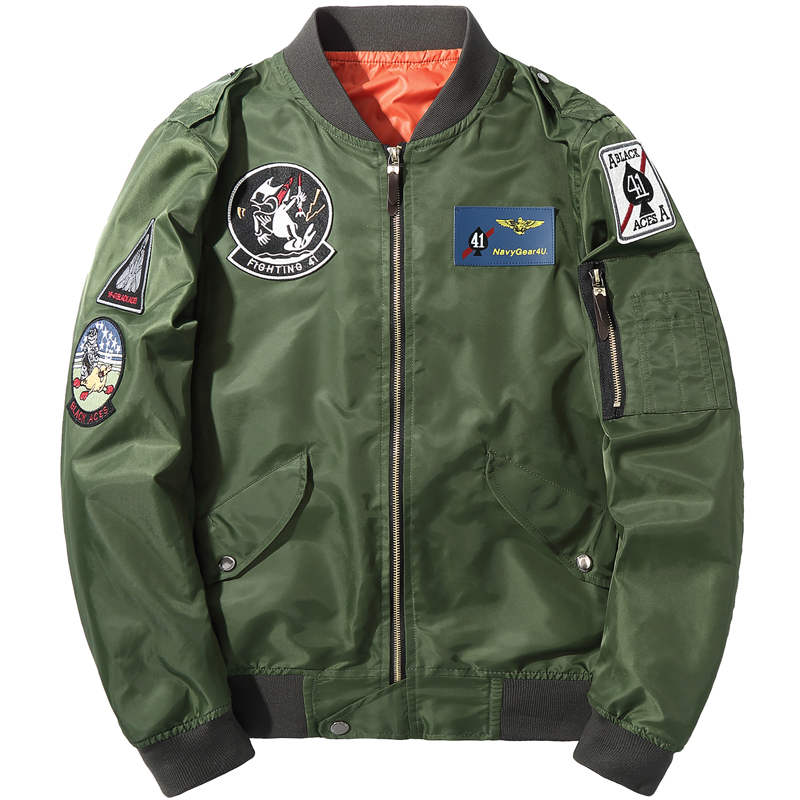 Mu Yuan Yang Flight Jacket Pilot Air Force 50% Off Men' s Jackets 2017 Spring Men Bomber Jackets Zipper Coats XXL XXXL