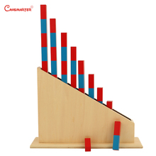 Early Education Numerical Rods With Stand Montessori Number Sticks  Wood Material Math Kids Practice Educational Toys MA001-NX3