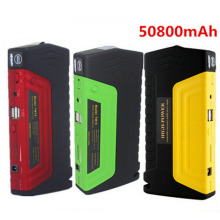 High Capacity 50800mAh Car Jump Starter Mini Portable Emergency Battery Charger for Petrol (3 Color) with Plastic Box LR15