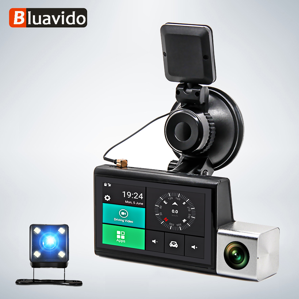 Bluavido Car DVR Gps Logger Rear-Camera Registrator Remote-Monitoring Auto-Video-Recorder
