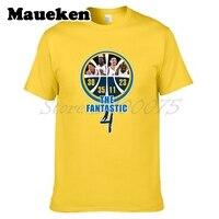 Của nam giới Stephen Curry Klay Thompson Kevin Durant Draymond Màu Xanh Lá Cây Golden State Các Fantastic 4 T-Shirt tee W17110607
