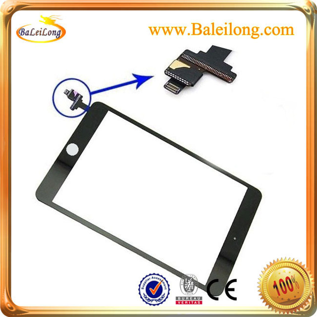 Factory Price For  iPad Mini A1432 A1454 A1455 Touch Screen Digitizer Glass with IC with home button- White and Black