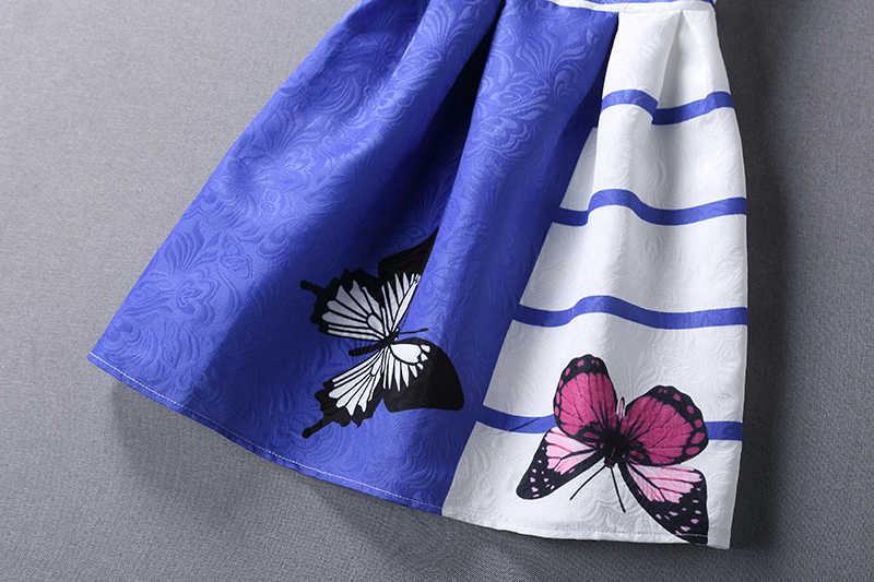 FTLZZ Neue Sommer Frauen Kleid Schmetterling Drucken Sleeveless O Ansatz Beiläufiges Kleid Elegante Mode Frauen Minikleid