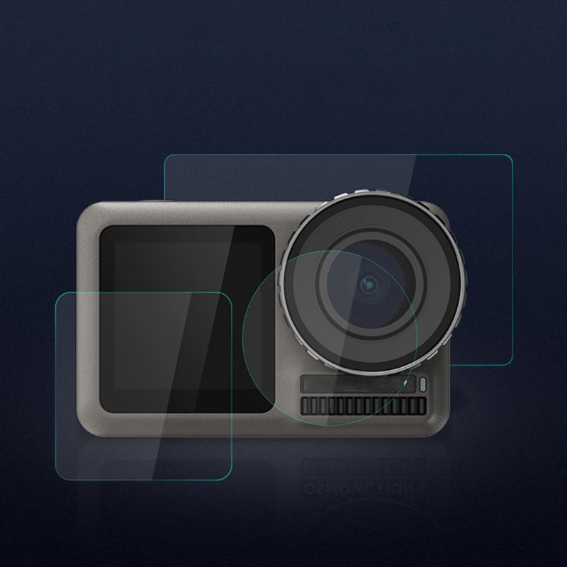 Tempered Glass Film Screen Lens Protective Cover Set For DJI Osmo Action Sports Camera Protection Accessories