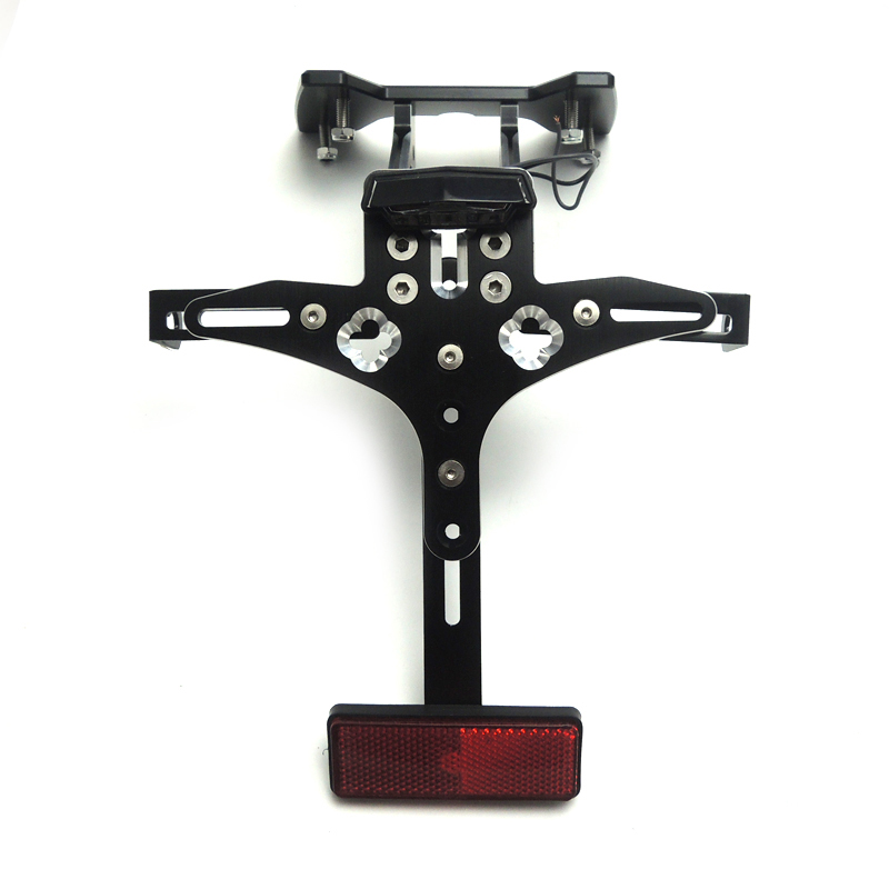 For SUZUKI GSX-R600 K8 Fender Eliminator License Plate Bracket Rear Tail Tidy Holder Motorcycle For GSXR750 K8 2008 2009 2010 for suzuki gsxr1000 2007 2008 motorcycle licence plate bracket tail tidy rear fender eliminator billet aluminum