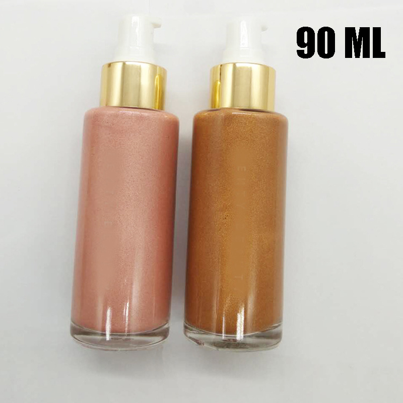 LUTER 35/90ML Body Highlighter Pearl Glitter Powder Liquid Bronze Pinky Color Foundation For Traveling Home