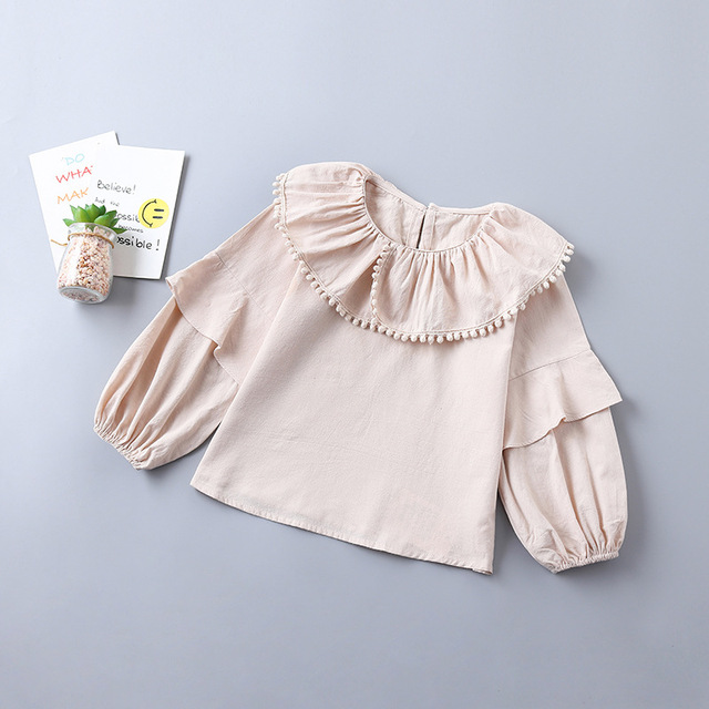 weLaken Kids Blouses For Girls Shirt With Lace Baby Girls Clothing Children's Blouses & Shirt  Kids Outfit Clothes Tops