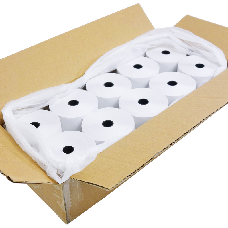 Factory Direct Cash Register Paper 80 X 80 Mm (70 Meters) Thermal Receipt Paper Roll 3-1/8