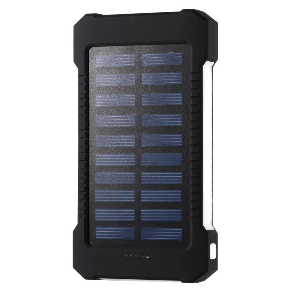 Tragbare Solar Power Bank 30000 mah Wasserdichte Externe Batterie Backup Power 30000 mah Telefon Batterie Ladegerät LED Pover Bank