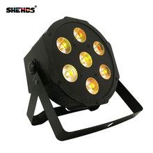 цены 4pcs/lot good quality led par quad 7x12w wash dmx par light american dj par rgbw 4in1 dmx led flat par light led lamp
