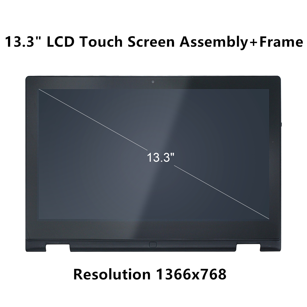 Hot Sale Ftdlcd 13.3 2-in-1 Hd Lcd Touch Screen Digitizer Display Assembly With Frame For Dell Inspiron 7359 P57g P57g002 Pure Whiteness Laptop Accessories Computer & Office