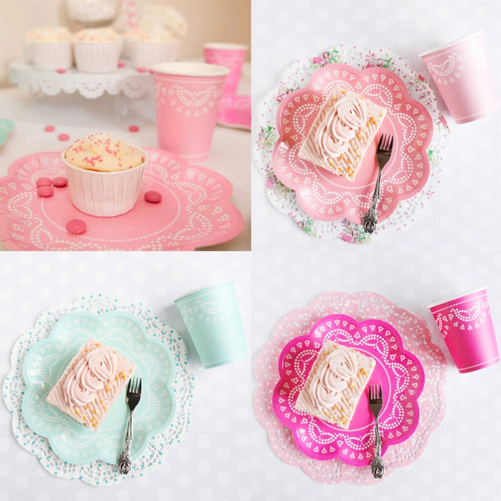 wedding cake plates and napkins 56pcs colorful wedding paper plate cup napkins cake sets 23504