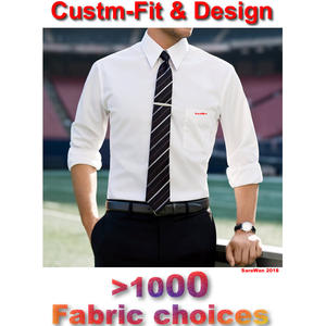 Mens Dress Shirt Long-Sleeve Wedding White Manche Homme Custom-Made Tailored