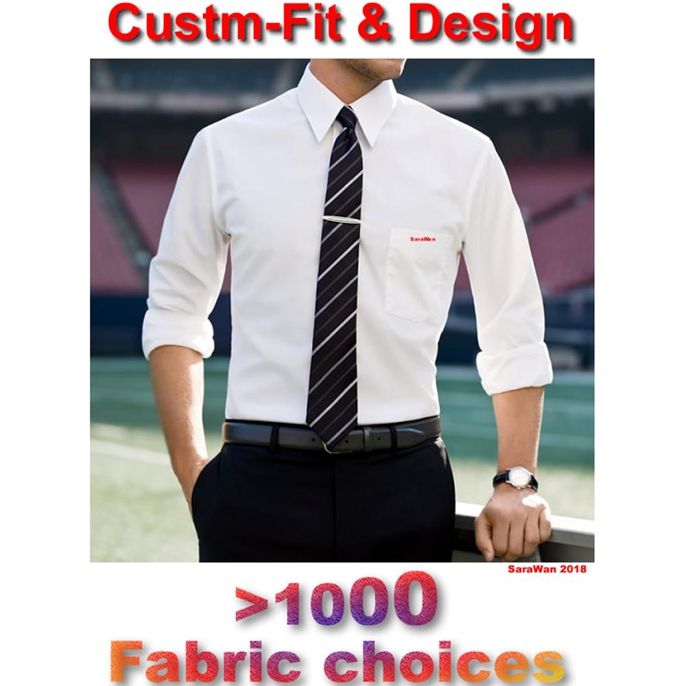Chemises habillées pour hommes sur mesure 2018 Chemise blanche à manches longues pour hommes Chemise De mariage pour hommes Chemise Homme Manche Longue De Luxe