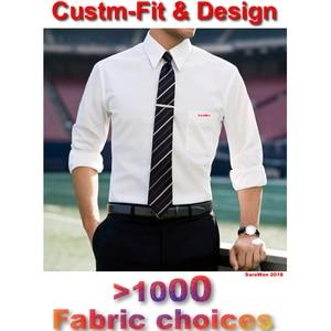Image 1 - Tailored Mens Dress เสื้อ 2018 CUSTOM Made สีขาวแขนยาวเสื้องานแต่งงาน Homme Manche Longue De luxe