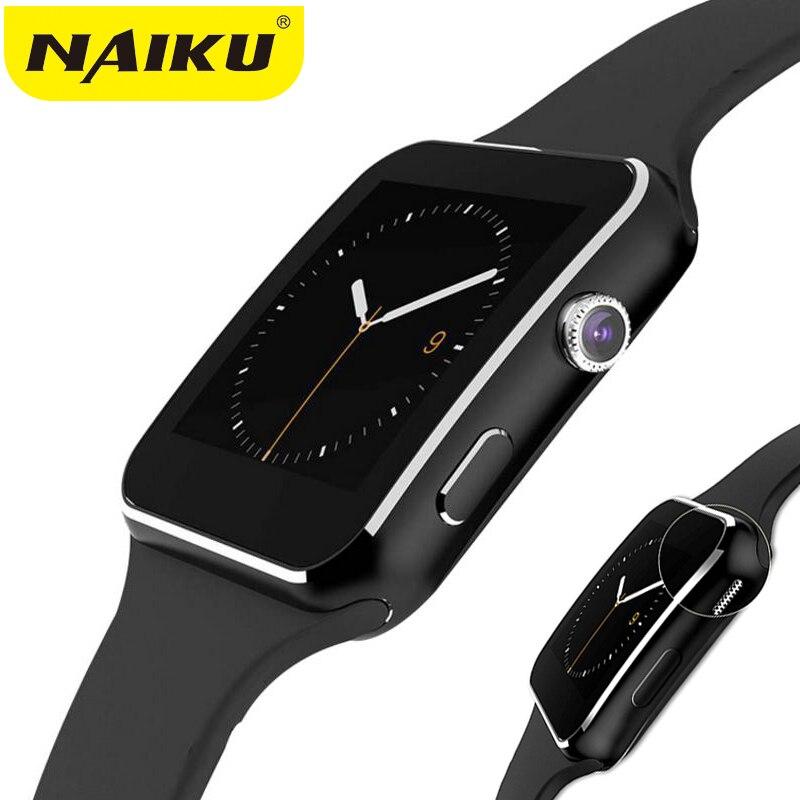 NAIKU Bluetooth Montre Smart Watch NK6 Sport Passometer Smartwatch avec Support de Caméra Carte SIM Whatsapp Facebook pour Android Téléphone
