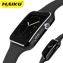 Купить Naiku Bluetooth Smart часы nk6 Спорт Шагомер smartwatch с Камера Поддержка sim-карты WhatsApp Facebook для телефона Android