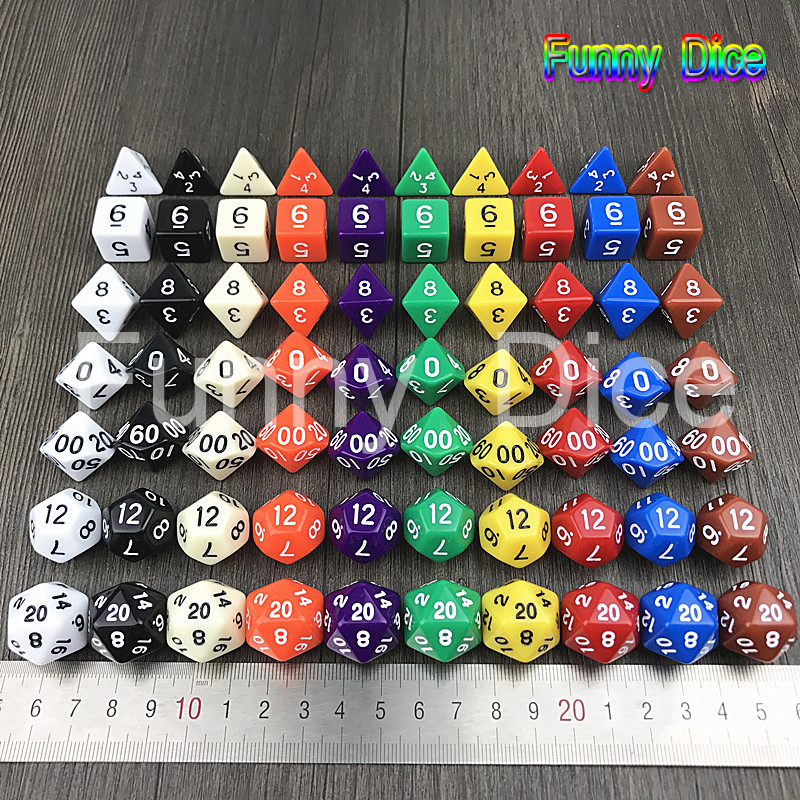 Us 113 5 Offopaque Transparent 7pcbag Multi Sided Dice Multi Color For Card Game In Board Games From Sports Entertainment On Aliexpresscom