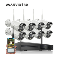 Security Camera System Wireless 8CH CCTV System 8x1080P CCTV Camera Ip DVR Video Surveillance System Surveillance