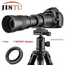 JINTU объектива камеры 420-800mm F/8,3-16 телеобъектив с переменным фокусным расстоянием для sony A500 A380 A330 A900 A230 A200 A100 A350 A300 A700 DSLR