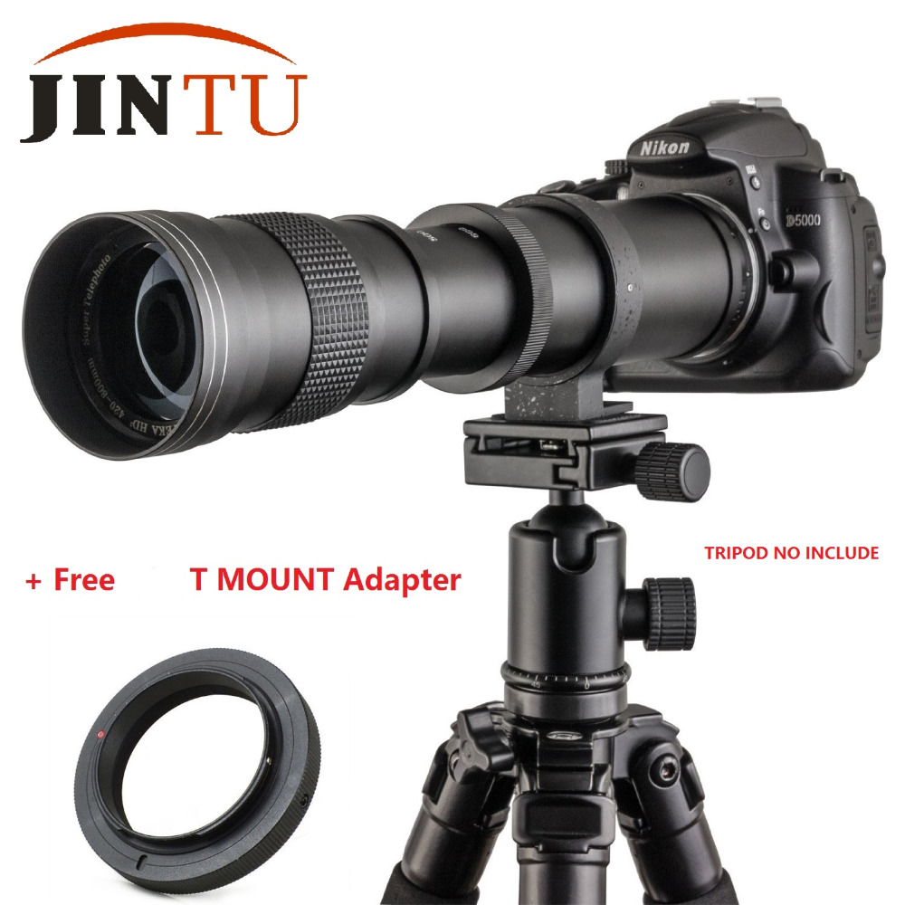 JINTU camera Lens 420-800mm F/8.3-16 Telephoto Zoom Lens for Sony A500 A380 A330 A900 A230 A200 A100 A350 A300 A700 DSLR