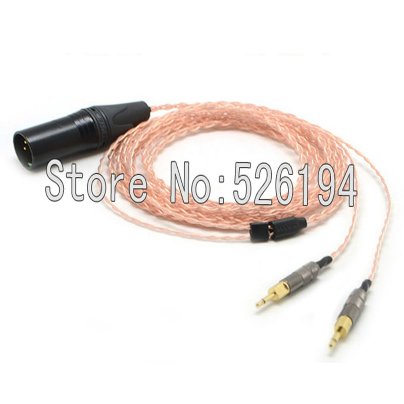 Free shipping 4pin XLR Male 5N pure copper Cable for HD700 Headphone Headset