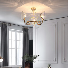 Nordic Chandelier LED Study Living Room Hotel Lobby Lighting Lustres De Cristal Dining Decor Chandeliers Ceiling