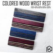 Colored Wood Wrist Rest Wood and veneer Made from solid piece of Rubber feet for mechanical keyboards gh60 xd60 xd64 80% 87 104