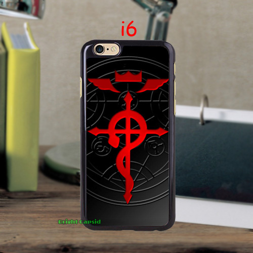 Brand Classic Anime Fullmetal Alchemist Brotherhood case cover for iPhone 5c 5s 5 4s 4 and i6 i6 plus cell phones covers&cases