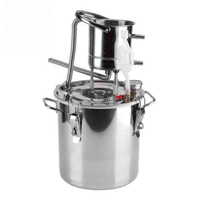 10L Alcohol Stainless Distiller Home Brew Kit Moonshine Wine Making ...